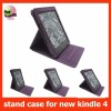 leather case for new kindle 4,for kindle 4 stand case,MOQ:300pcs wholesale