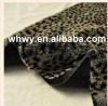 leopard jacquard high pile faux fur
