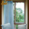 light blue polyester organza string window curtain