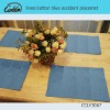 linen/cotton blue occident placemat