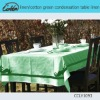 linen/cotton green condensation table linen