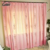 linen/cotton printed prink simple Flower type curtain