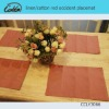 linen/cotton red occident placemat