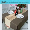 linen printed european style table runner