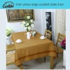 linen yellow edge occident table linen
