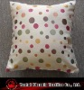 lovely polyester jacquard spots cushion