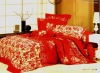 luxury brushed reactive printed bedding set