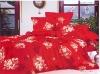 luxury brushed reactive printed bedding set
