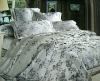 luxury tencel /cotton  jacquard Embroidery bedding sets / silk duvet cover set