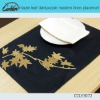 maple leaf darkpurple modern linen placemat