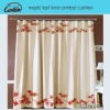 maple leaf linen printed curtain