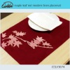 maple leaf red modern linen placemat