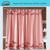 maple leaf rose linen printed curtain