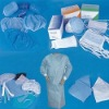 medical using needle-punched nonwoven fabric