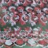 mesh embroidery fabric with metallic yarn