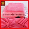 microfiber solid color cozy coral fleece quilted bedspreads