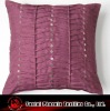 modern pleated polysilk cushion cover with sequin