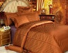 mulberry silk bedding sets yarn dyed 4 piece
