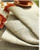 natural dinner napkin with dot hemstitch
