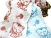 naughty cat children cotton towel