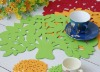 needle punched non woven felt table mats,cup mats