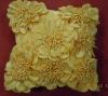new 3D flower design applique cushion cover