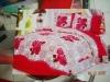 new fashion sanding fabric quilt cover set/bedsheet/pillowcase