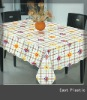 newest waterproof square PVC printed tablecloth