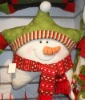 novel christmas santa star throw pillow