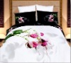 oil painting 100% cotton reactive printed bedding sets