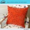 orange corduroy printing chair back cushion
