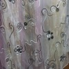 organza embroidery fabric for table cloth