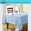 outline strokes blue plain dyed linen table linen