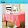 outline strokes pink plain dyed linen table linen
