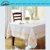 outline strokes white plain dyed linen table linen