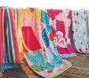 oversize cotton printed beach towel