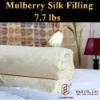 padded silk quilt