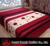 panel embroidered applique flower bedding set