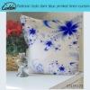pastoray style darkblue printed linen cushion