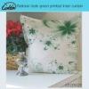 pastoray style green printed linen cushion