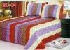 patchwork silk bedspread,3pcs/one set quilt bedspread