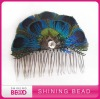 peacock feather headband with claw