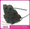 peacock feather pad with headband