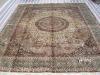 persian silk rug bird