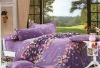 pigment printing 100%cotton bedding sheet set