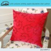 pink corduroy printing square decorative chair cushion