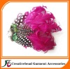 pink curly feather headbands