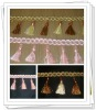 pink handmade fringe curtain tassels beaded