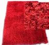 plain shaggy rug/floor mat