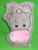plush and stuffed car cushion,hippo shape -07148